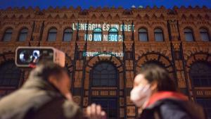 Protesta de la Aliança Contra la Pobresa Energètica (APE), el pasado 18 de febrero en Barcelona.