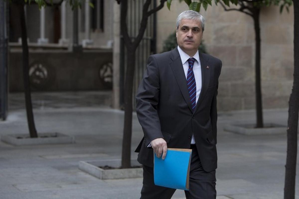 El 'conseller' de Justícia, Germà Gordó, el pasado día 15.