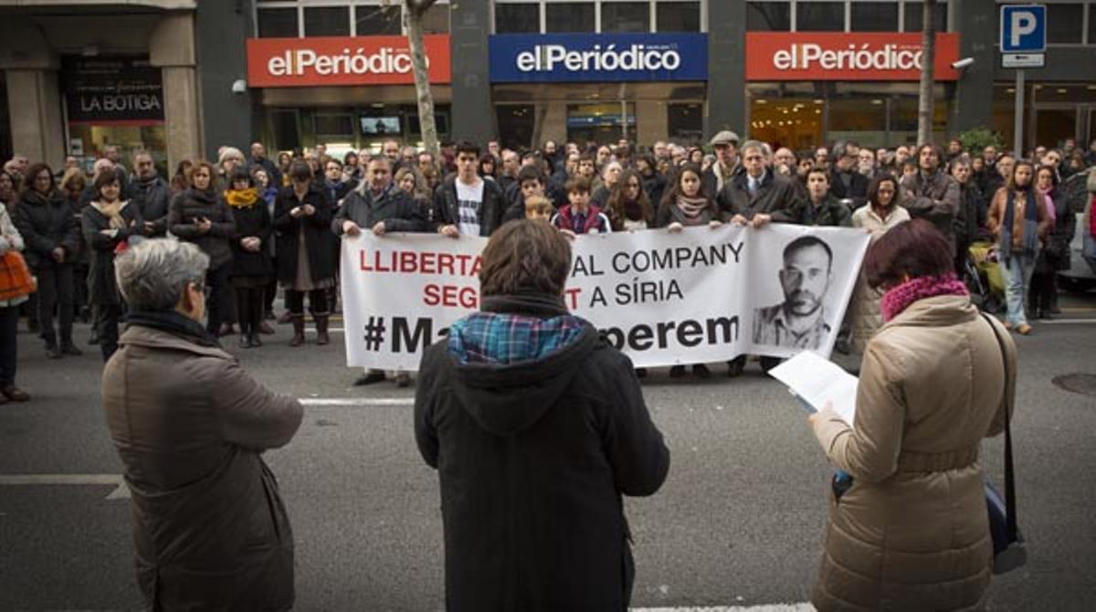 Nueva concentración para pedir la liberación de Marc Marginedas, secuestrado en Siria