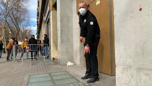 El vigilante de seguridad vigilante del gimnasio de Sant Pau que ha impedido el ataque.