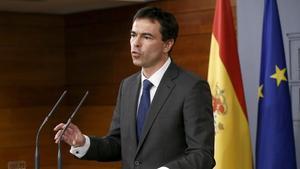 Andrés Herzog en la Moncloatras reunirse con Rajoy el pasado noviembre.