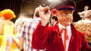 Comediants, festejando su 40 aniversario en su sede de Canet de Mar.