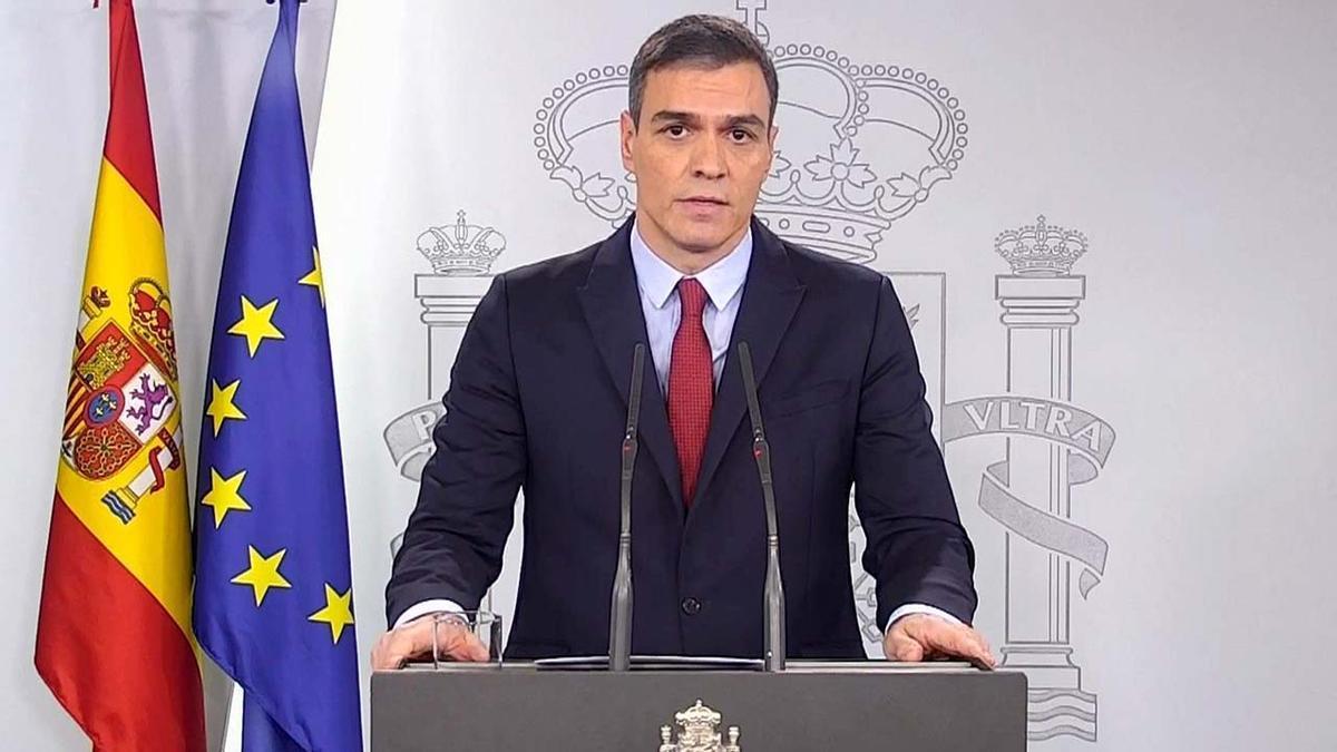 Rueda de prensa del presidente Sánchez, en la que ha declarado el estado de emergencia por el coronavirus.