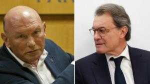 El exlendakari Juan José Ibarretxe. A la derecha, el expresidente de la Generalitat Artur Mas.