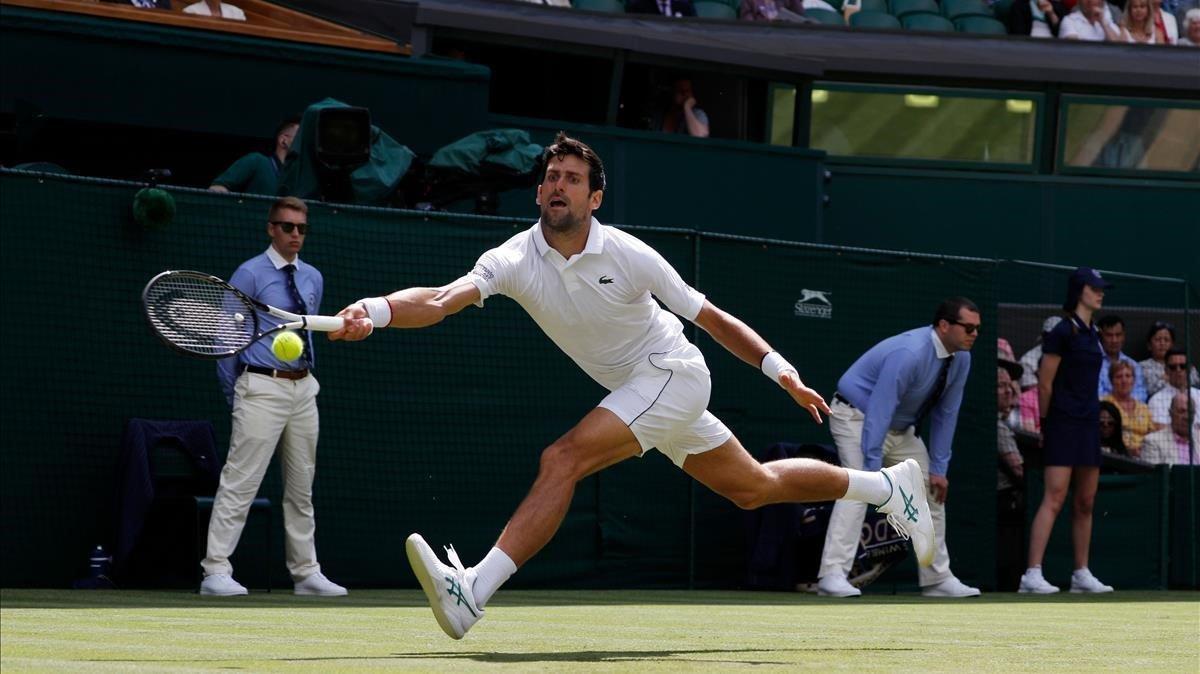 Novak Djokovic, en el pasado Wimbledon, donde reinó.