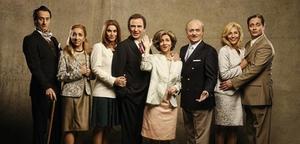 Els actors de 'Polònia' en la seva caracterització com a família reial.