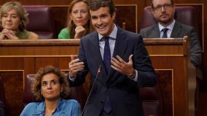 Pablo Casado, en el Congreso de los Diputados.