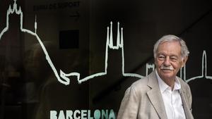 Eduardo Mendoza, en la presentación de 'El rey recibe', en Barcelona.