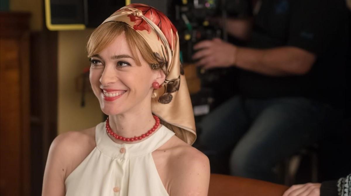 Marta Hazas, en el rodaje de la cuarta temporada de 'Velvet'.