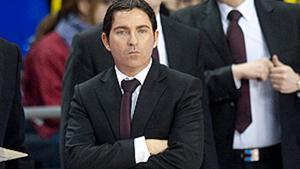Xavi Pascual durante el encuentro entre el Barça y el Alicante.