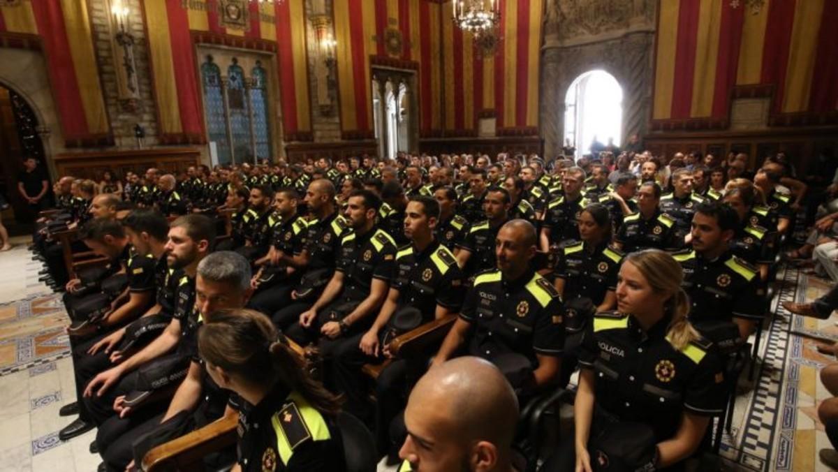 Nuevos agentes de la Guardia Urbana de Barcelona.