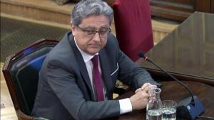 Enric Millo declara en el Tribunal Supremo en el juicio por el 'procés'.