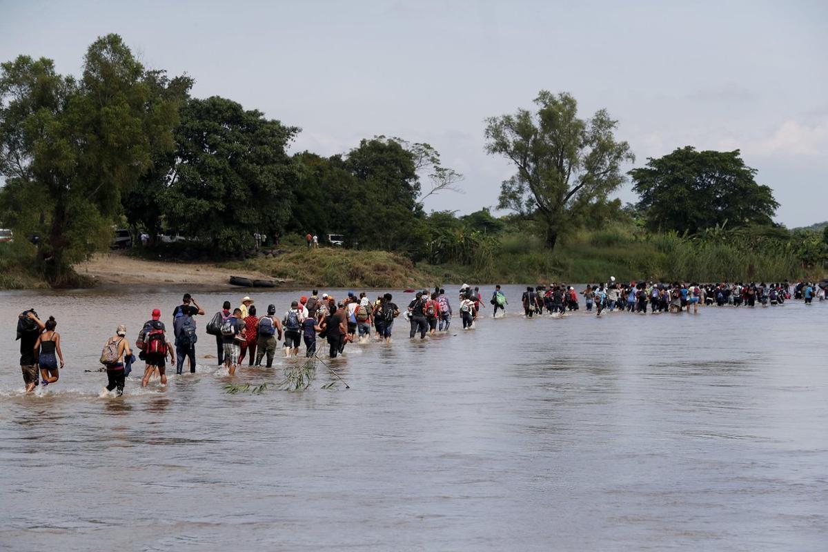 La caravana centroamericana está saliendo de la Ciudad de México