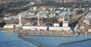 Imagen aérea de la central nuclear de Fukushima.