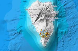 Mapa de actividad sísmica de La pALMA