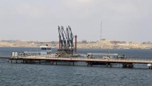 Un puerto petrolero en Libia.