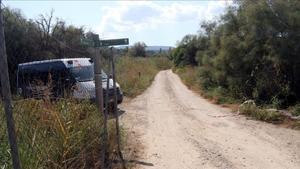 Camino donde se ha encontrado el cadáver de un hombre en Flix.