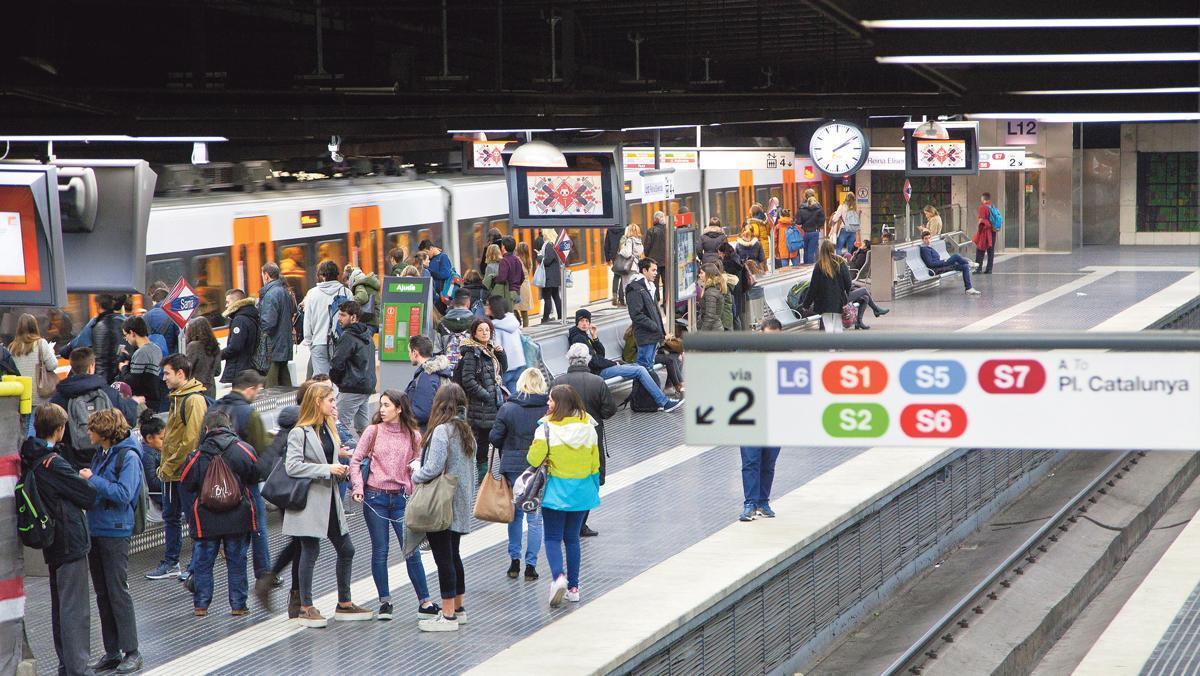 Andenes de la estación de Sarrià