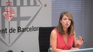 Sanz, durante la comparecencia de este jueves en el ayuntamiento.