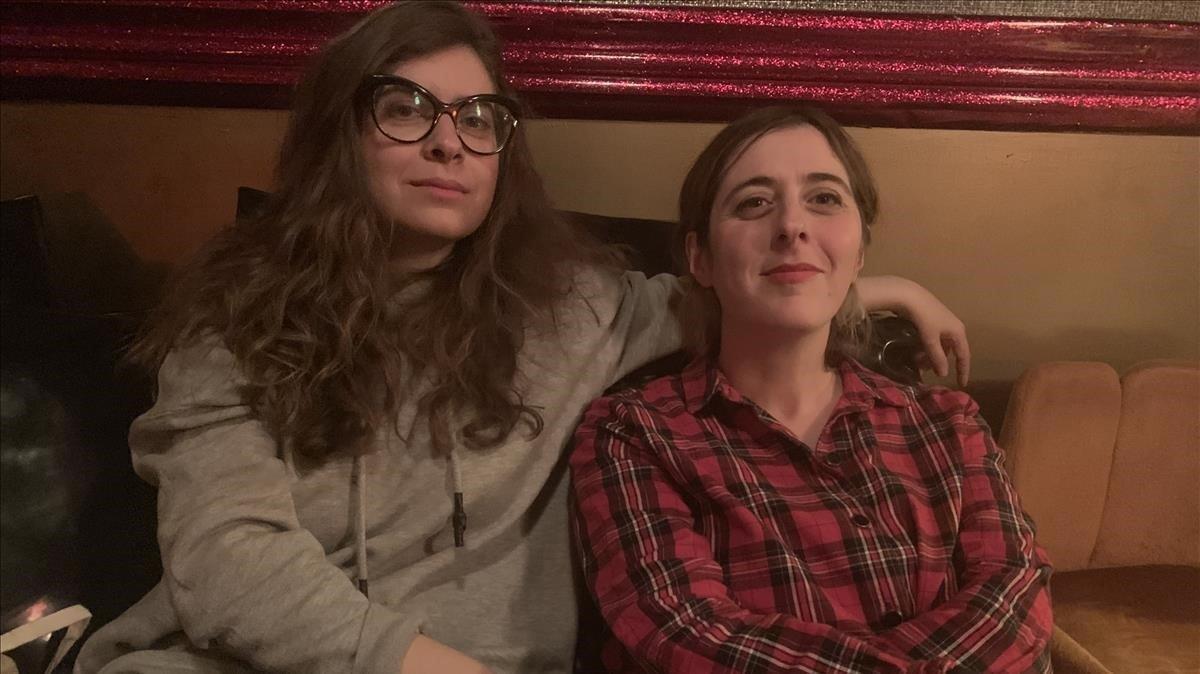 Isabel Calderón y Lucía Lijtmaer.