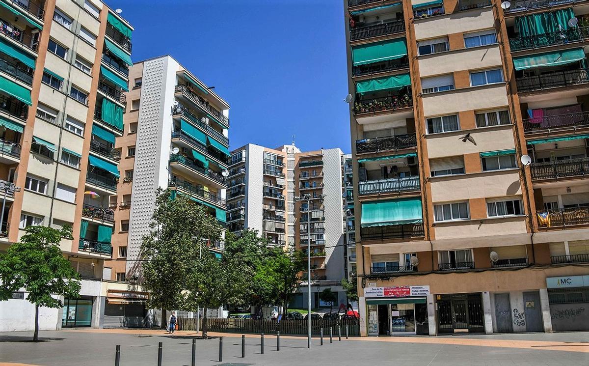 La futura plaza Neus Català de Rubí.