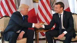 Trump y Macron durante su encuentro del pasado 25 de mayo.