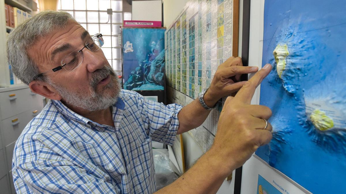 José Mangas, geólogo de la Universidad de Las Palmas de Gran Canarias.