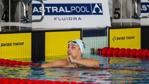 Lidon Muñoz tras concluir una prueba en el reciente Campeonato de España de 25 metros