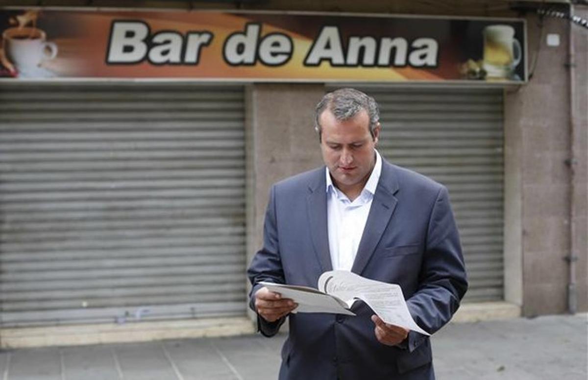 David Gómez en una imagen de archivo tras anunciar que abandonaba el PP.