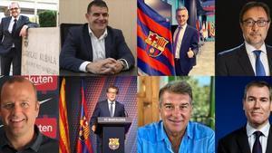 Posibles precandidatos a las elecciones del Barça.