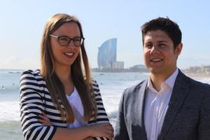 Victoria Gago y Daniel Salmerón.