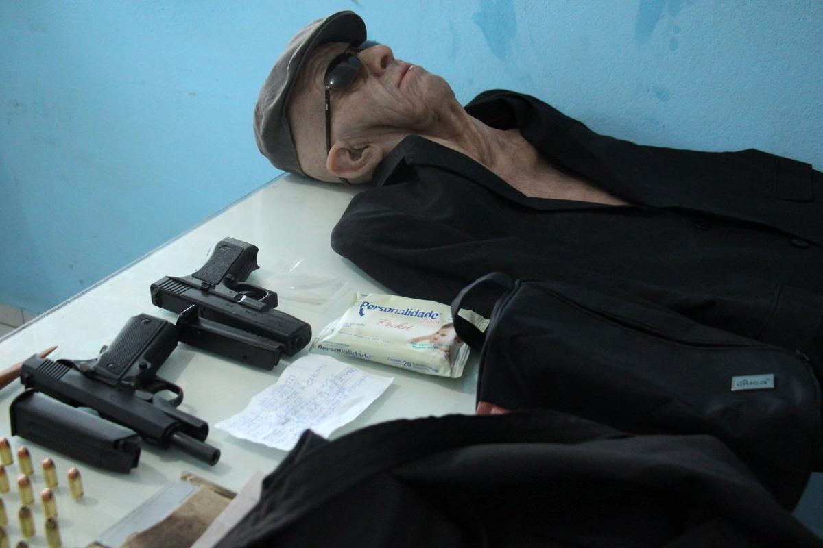 El disfraz de un ladrón de banco en Brasil. EFE