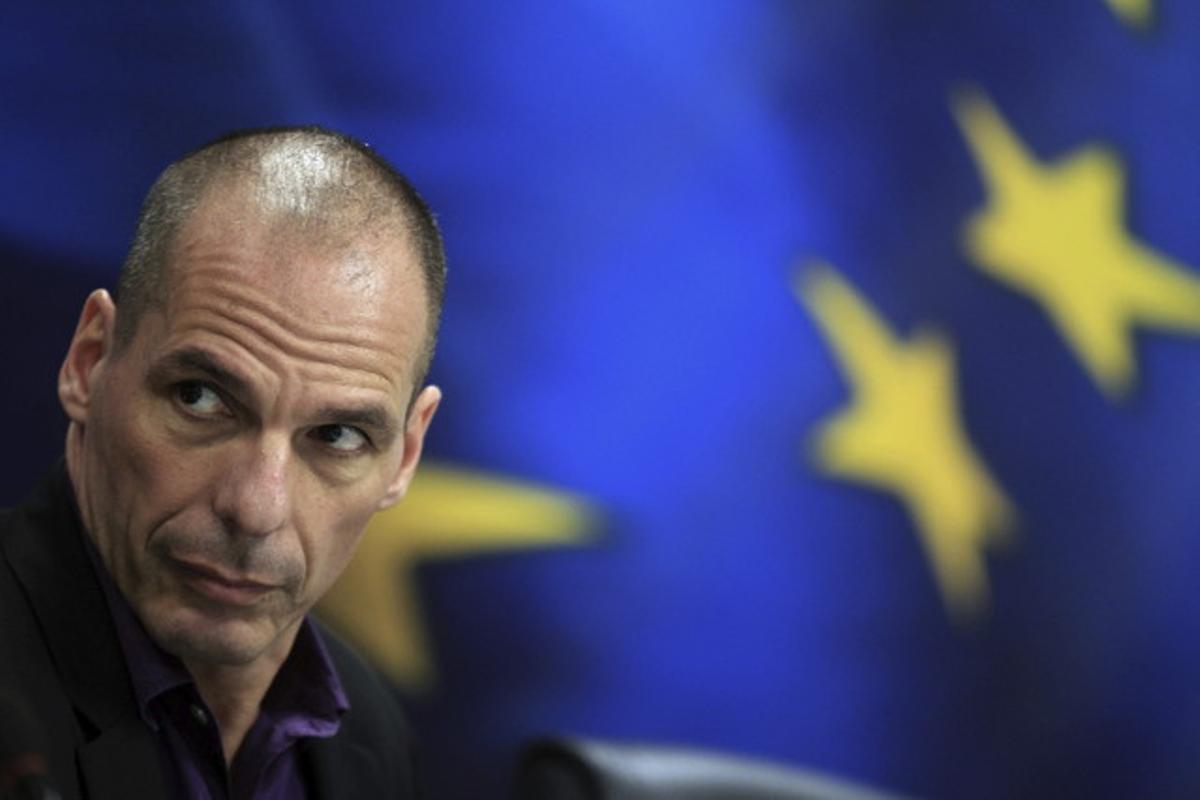 Varufakis, cuando era ministro de Finanzas griego, en el 2015