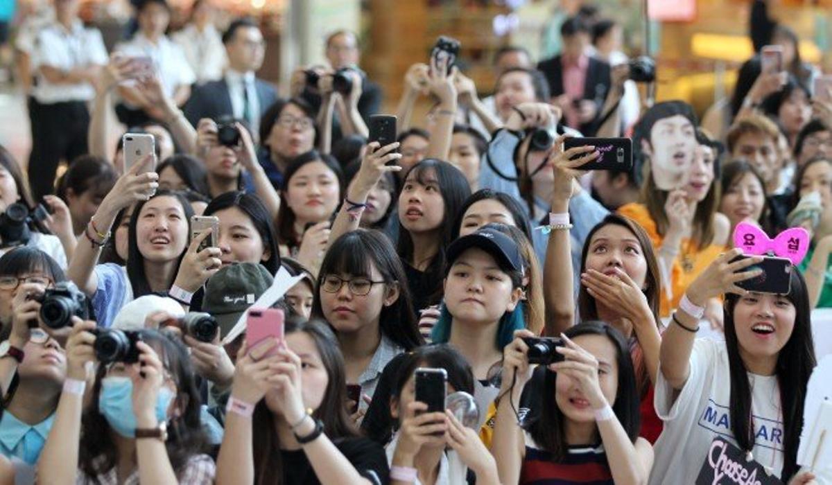 Fans de k-pop.