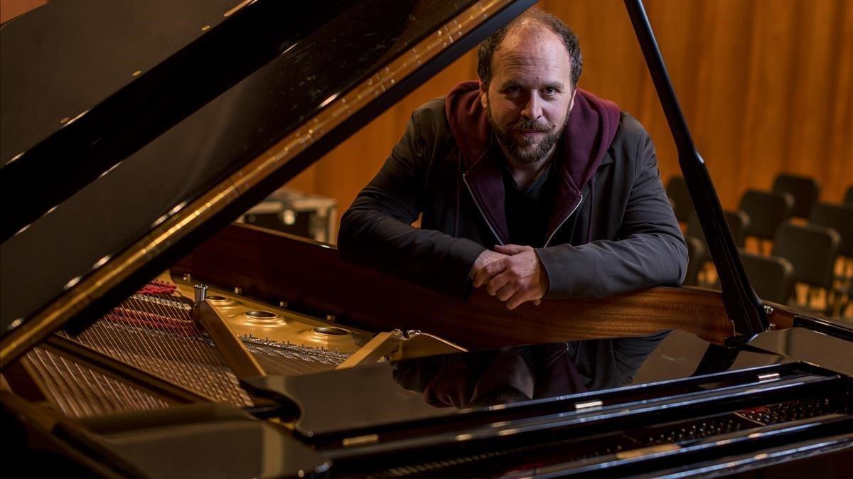 El pianista Roger Mas, el 29 de abril del año pasado, en Barcelona.