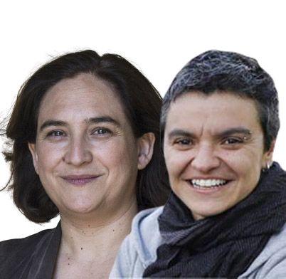 Ada Colau y Lucía Martín