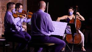 El Cuarteto Quiroga, este miércoles en Vilabertran.