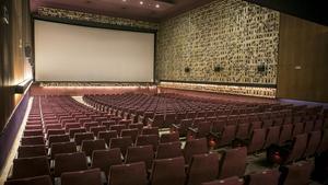 El interior vacíodel cine Aribau, en una foto de 2016.