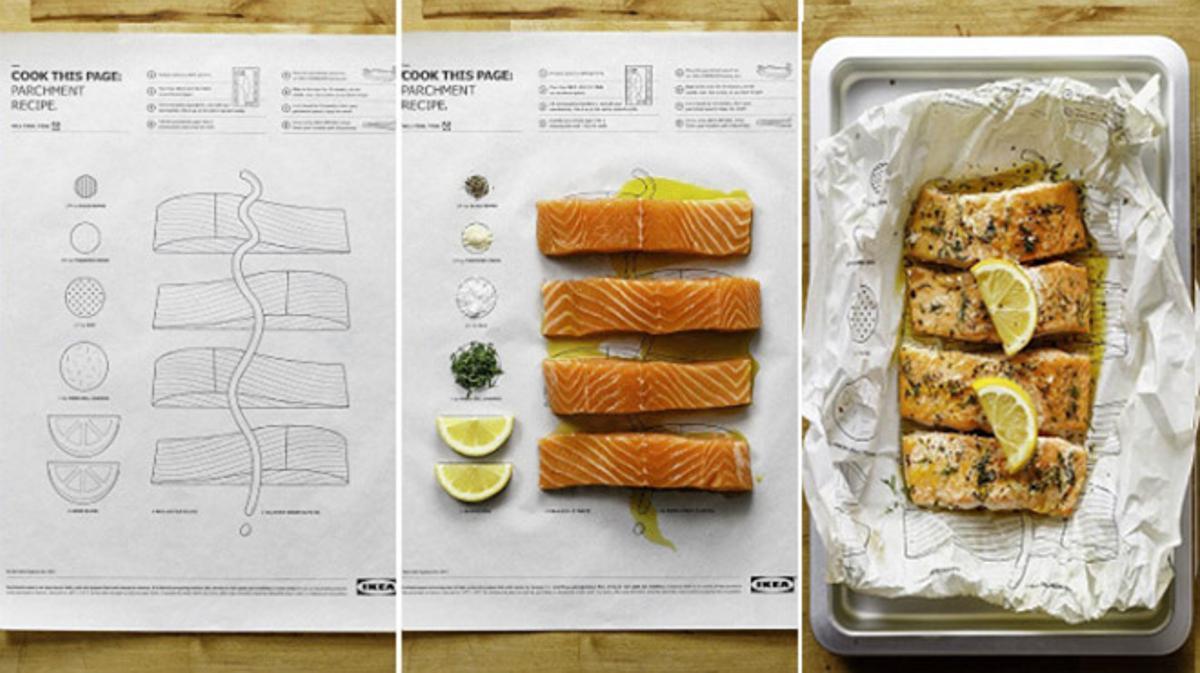 Así funcionan las páginas comestibles de Ikea 'Cook this page' ('Cocina esta página')