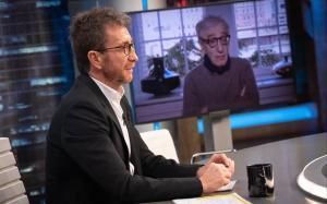 Pablo Motos con Woody Allen, en 'El Hormiguero'.