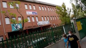 Colegio público Manuel Núñez Arenas, en Getafe (Madrid), uno de los centros que ha organizado grupos mixtos de alumnos y alumnas.