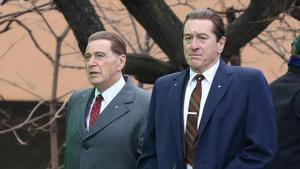 Al Pacino y Robert de Niro, en'El irlandés'.