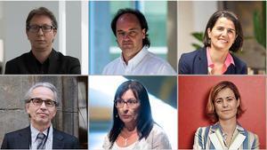 De arriba a abajo y de izquierda a derecha: Ferran Barenblit, Pepe Serra, Judit Carrera, Emmanuel Guigon, Elisa Durán y Nadia Arroyo.