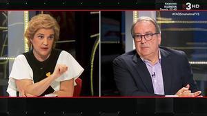 PIlar Rahola y Josep Cuní, en el FAQS (TV-3).
