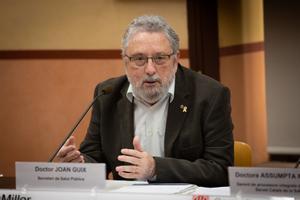 El exsecretario de Salut Pública, Joan Guix, informa del primer caso de coronavirus en Catalunya, el 25 de febrero de 2020.