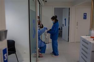 Sanitarias en el Hospital de Vall d'Hebron.