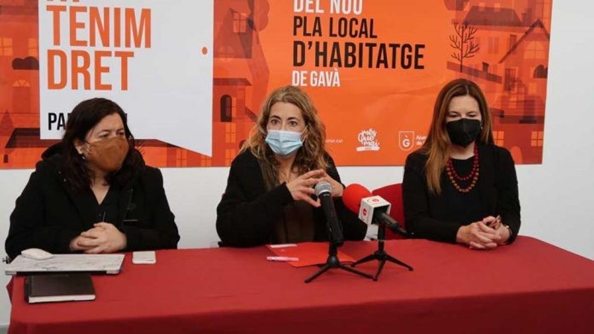 Imagen de la rueda de prensa de presentación del Plan de Vivienda de Gavà.