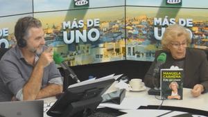La reacció d'Alsina al sentir un pet en directe mentre entrevistava Manuela Carmena