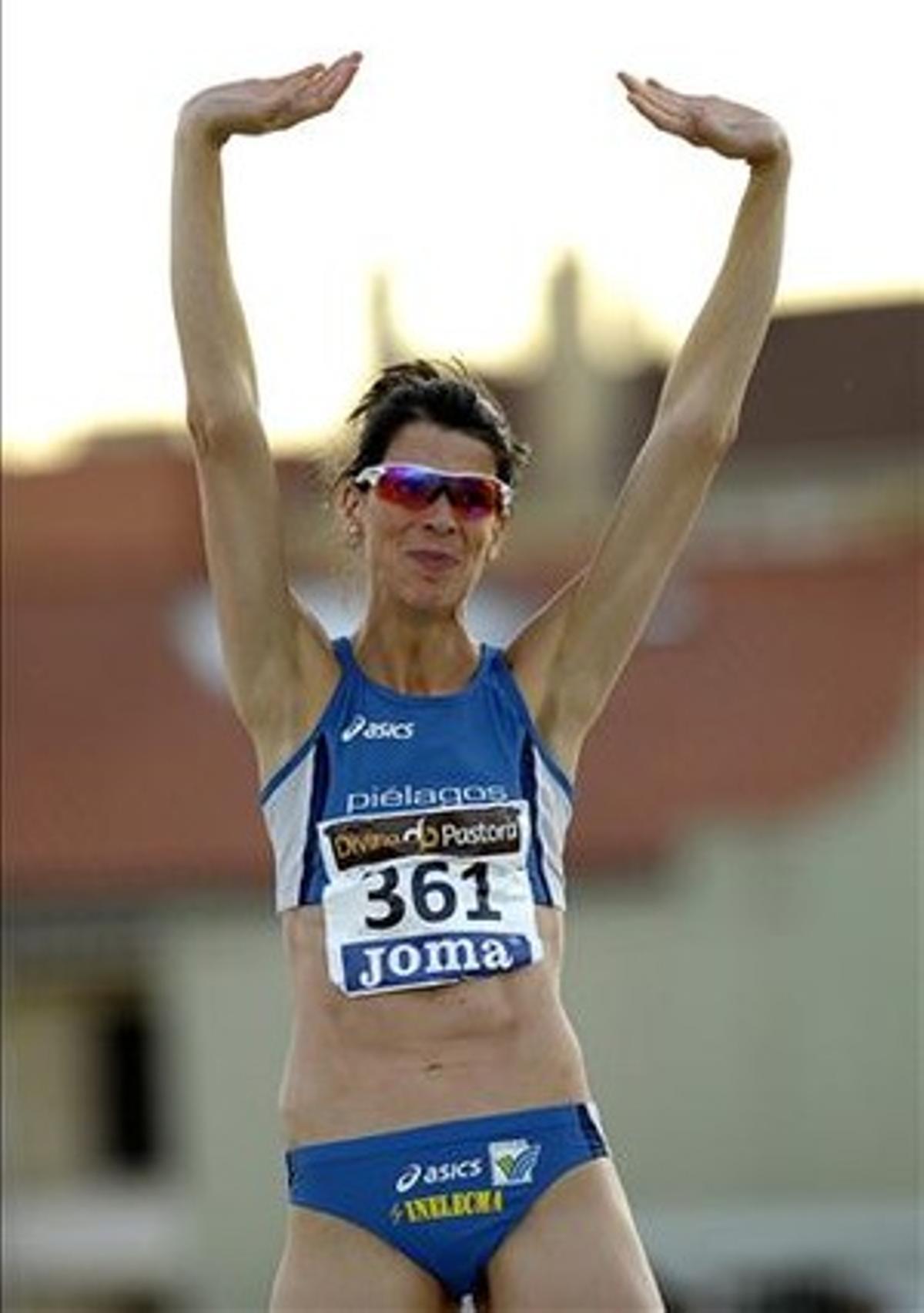 Beitia, este domingo en Pmplona, donde ha vuelto a coronarse campeona de España antes de decir adiós.