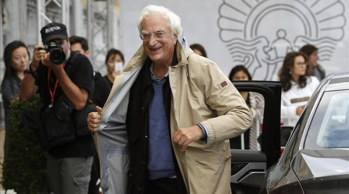 El cineasta francés Bertrand Tavernier, en San Sebastián, donde presenta 'Las películas de mi vida'.